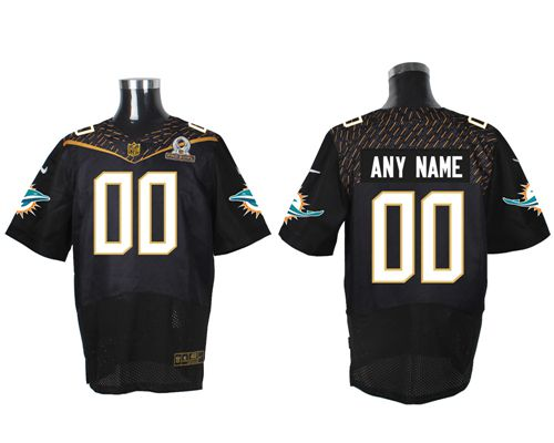 Nike Miami Dolphins Customized Black 2016 Pro Bowl Men's Stitched NFL Elite Jersey