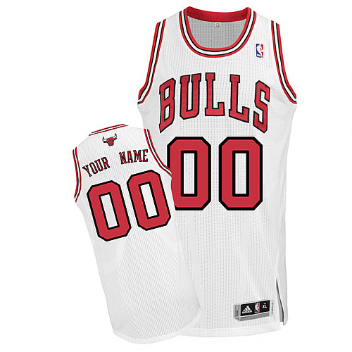 Bulls Personalized Authentic White NBA Jersey (S-3XL)