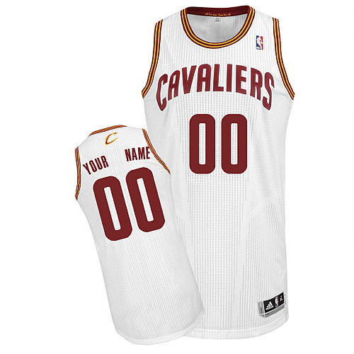Cavaliers Personalized Authentic White NBA Jersey (S-3XL)