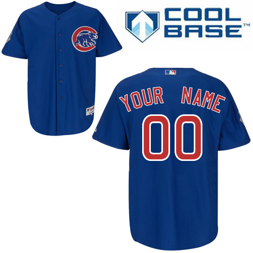 Cubs Personalized Authentic Blue MLB Jersey
