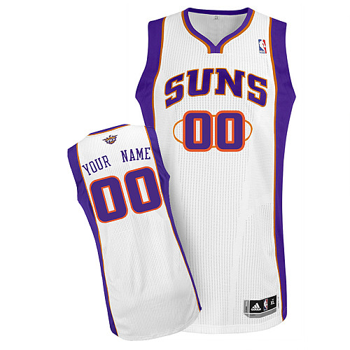Suns Personalized Authentic White NBA Jersey (S-3XL)