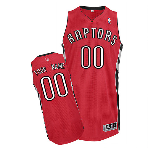 Raptors Personalized Authentic Red NBA Jersey (S-3XL)