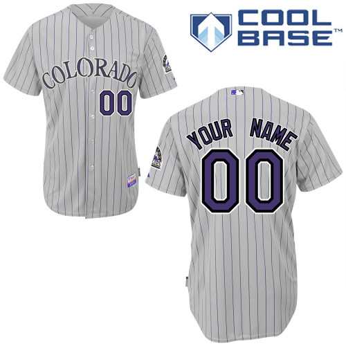 Rockies Personalized Authentic Grey MLB Jersey