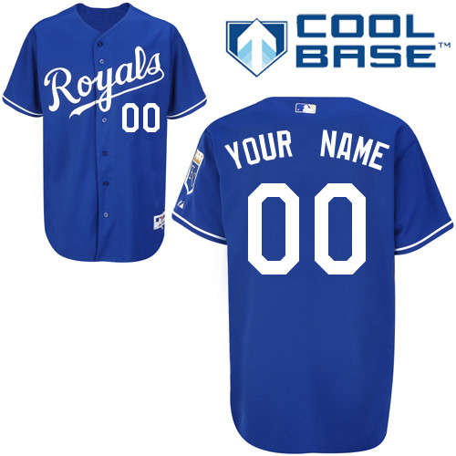 Royals Personalized Authentic Blue Cool Base MLB Jersey