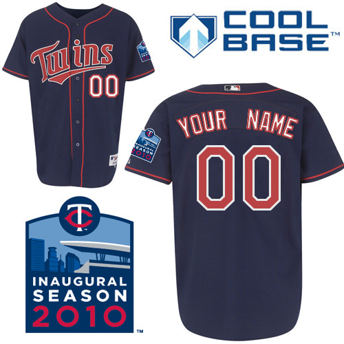 Twins Personalized Authentic Blue Cool Base w/2010 Inaugural Stadium Patch MLB Jersey