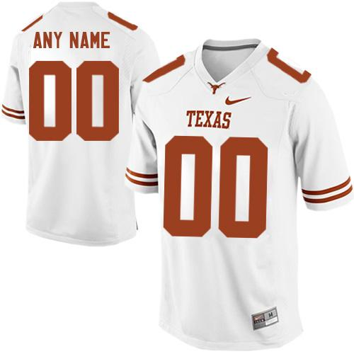 Longhorns Personalized Authentic White NCAA Jersey