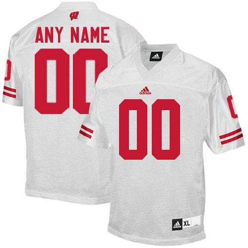 Badgers Personalized Authentic White NCAA Jersey