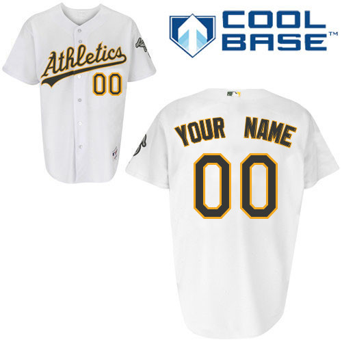 Athletics Personalized Authentic White Cool Base MLB Jersey (S-3XL)
