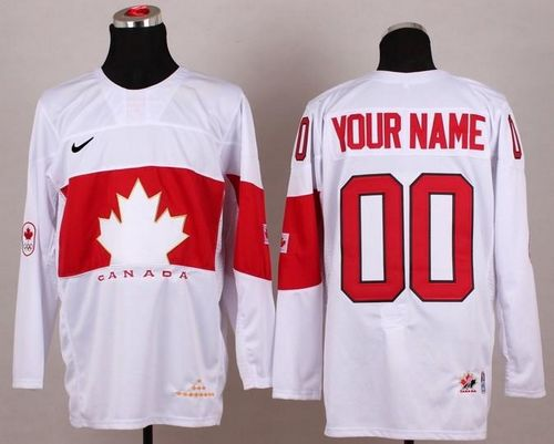 Team Canada 2014 Olympic White Personalized Authentic NHL Jersey (S-3XL)