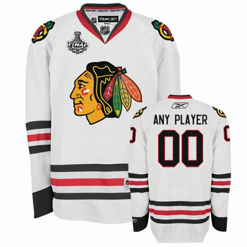Blackhawks Personalized Authentic White Stanley Cup Finals NHL Jersey (S-3XL)