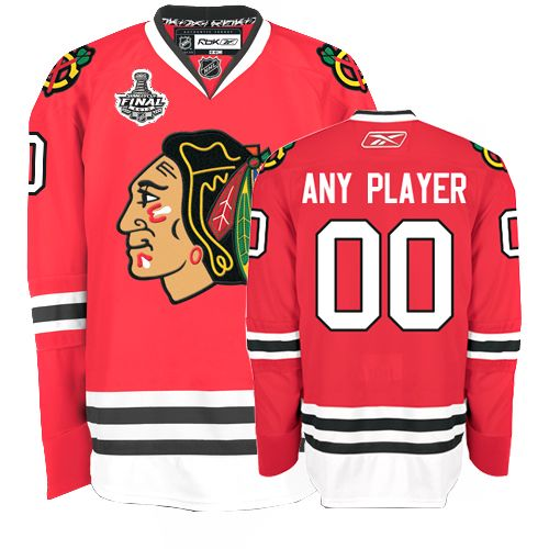 Blackhawks Personalized Authentic Red Stanley Cup Finals NHL Jersey (S-3XL)