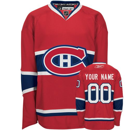 Canadiens Personalized Authentic Red NHL Jersey (S-3XL)