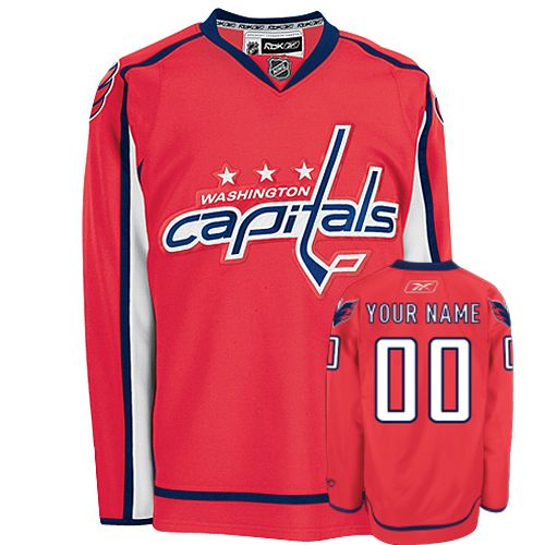 Capitals Personalized Authentic Red NHL Jersey (S-3XL)