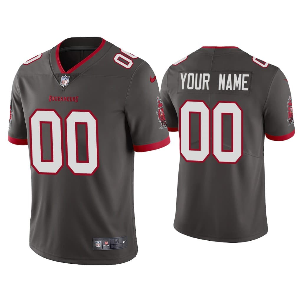 Men's Tampa Bay Buccaneers 2020 Active Player Custom Grey Vapor Untouchable Limited Stitched NFL Jersey