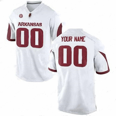 Arkansas Razorbacks Personalized White NCAA Jersey