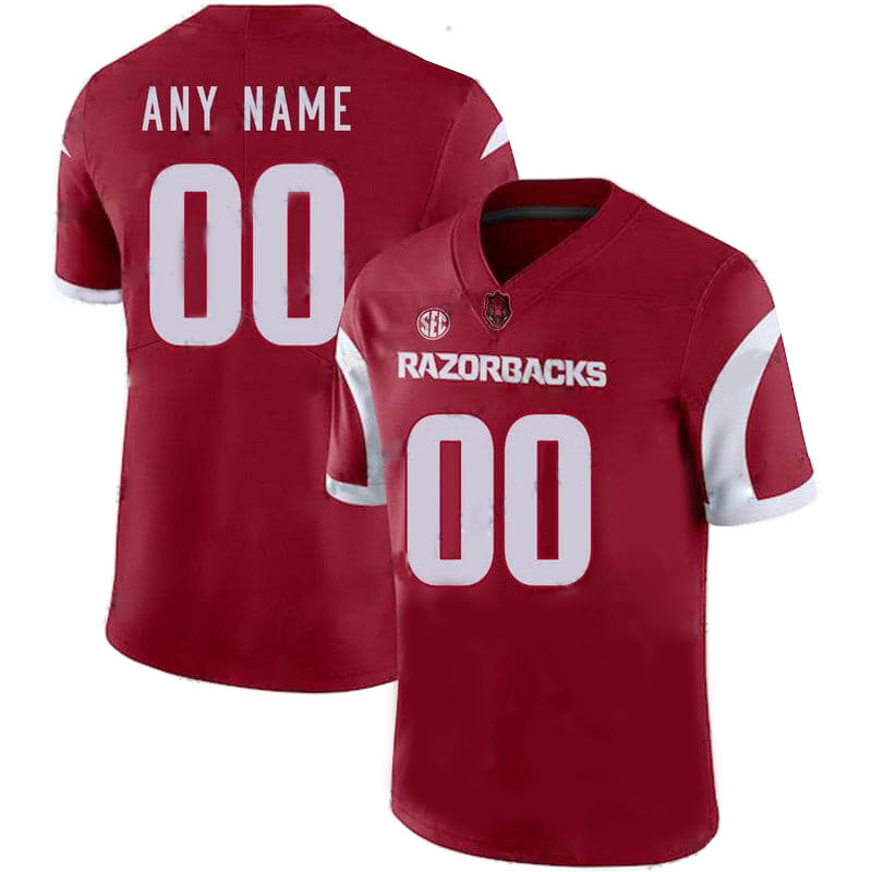 Arkansas Razorbacks Personalized Red NCAA Jersey