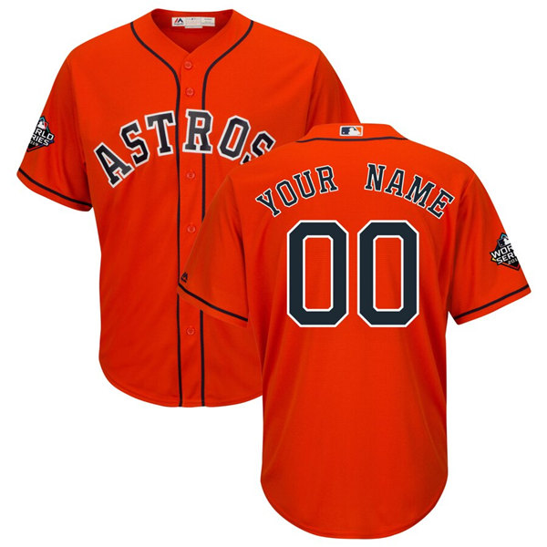 Astros Personalized Orange MLB Stitched Jersey