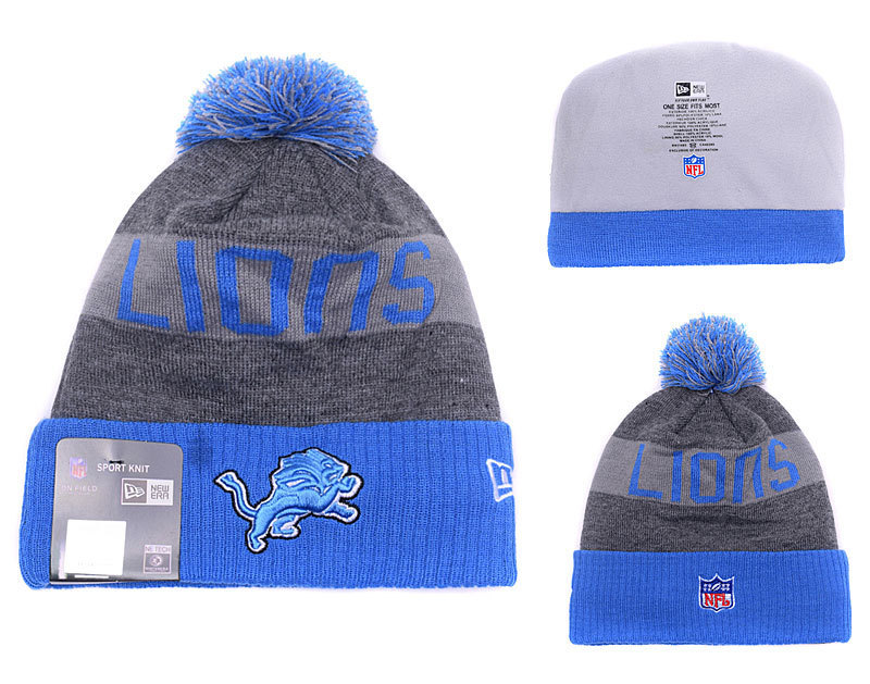 NFL Detroit Lions Stitched Knit Hats 003