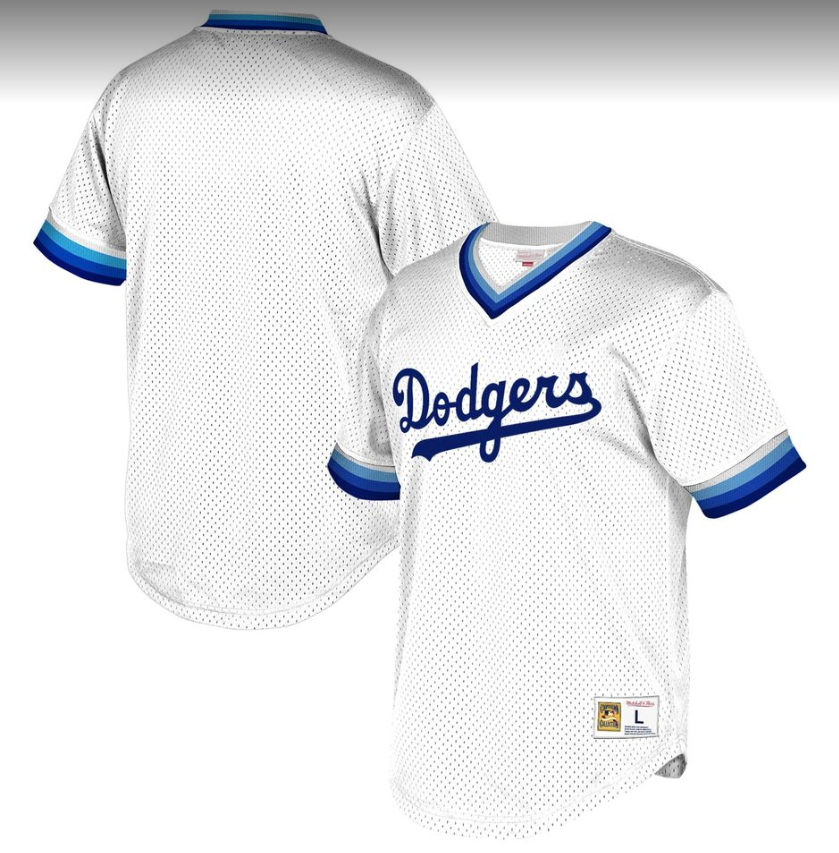 Men's Los Angeles Dodgers White Stitched MLB Jersey