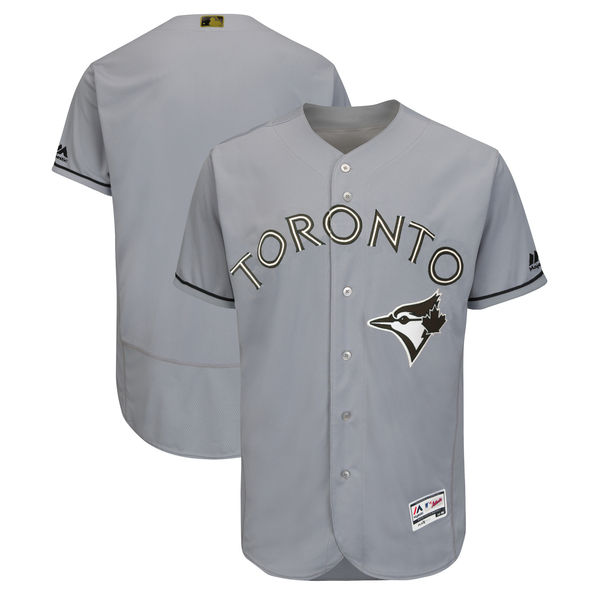 Men's Toronto Blue Jays Blank Gray 2018 Memorial Day Flexbase Stitched MLB Jersey