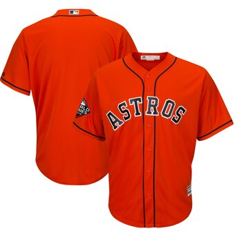 Men's Houston Astros Majestic Orange 2019 World Series Bound Cool Base Stitched MLB Jersey