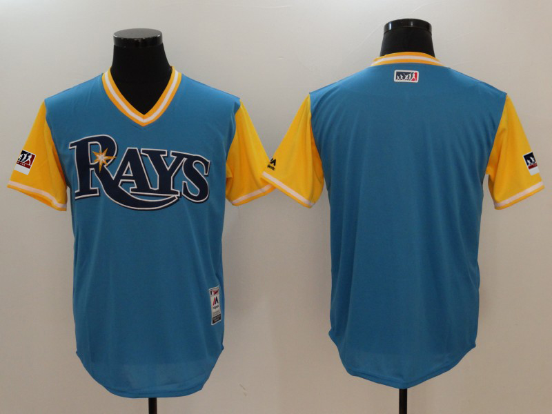 Men's Tampa Bay Rays Majestic Royal/Light Yellow 2018 Players' Weekend Team Jersey