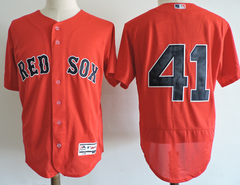 Men's Boston Red Sox #41 Chris Sale Red Elite Stitched MLB Jersey