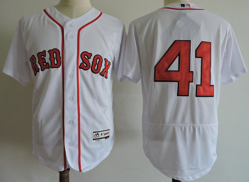 Men's Boston Red Sox #41 Chris Sale White Cool Base Stitched MLB Jersey