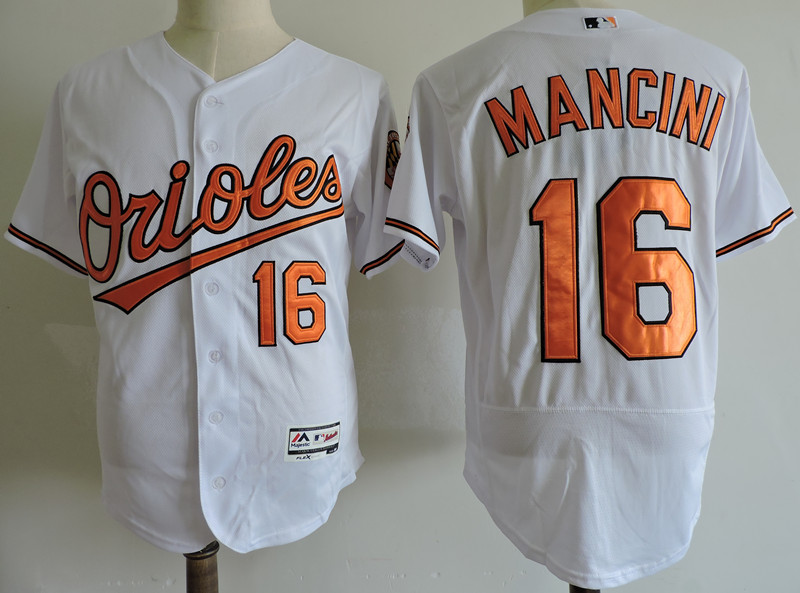 Men's Baltimore Orioles #16 Trey Mancini White Elite Stitched MLB Jersey