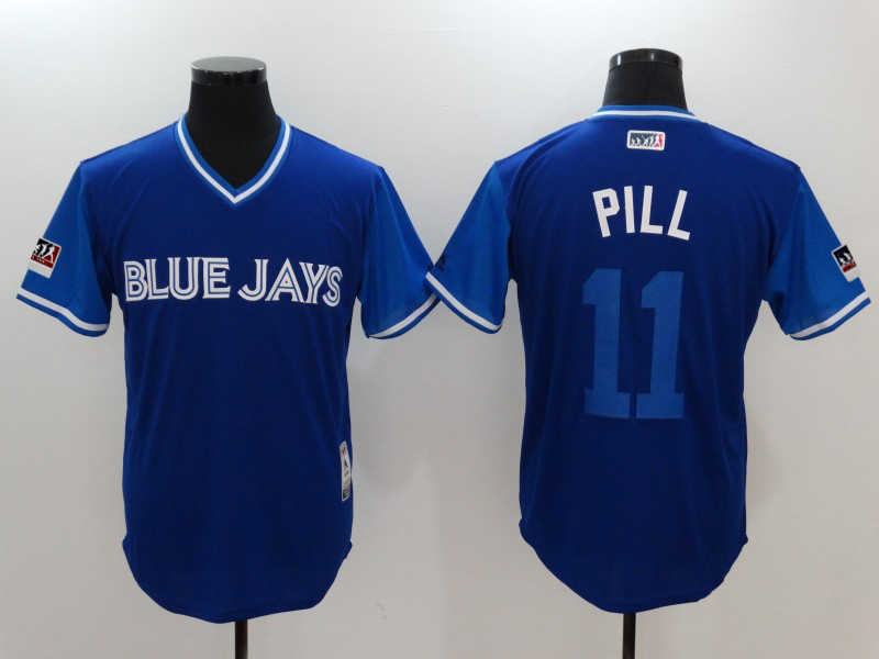 "Men's Toronto Blue Jays Kevin Pillar ""Pill"" Majestic Royal/Light 2018 Players' Weekend Jersey"