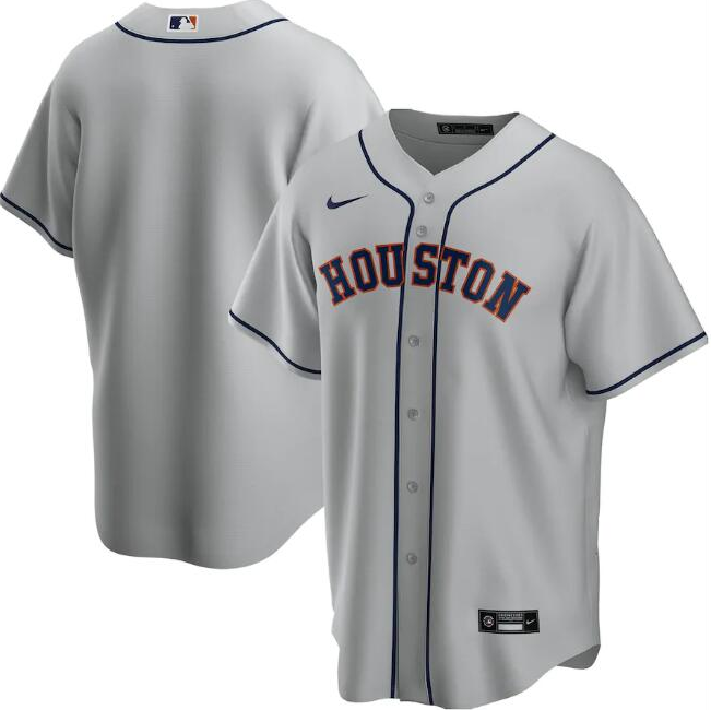 Men's Houston Astros Grey Cool Base Stitched MLB Jersey