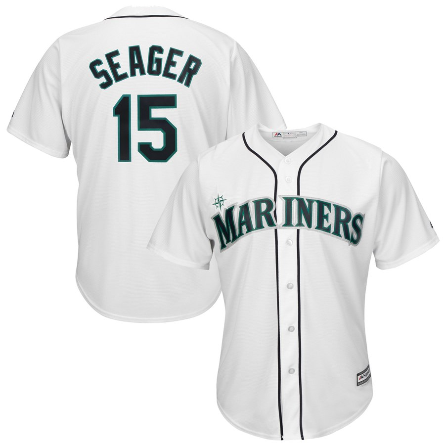 Mariners #15 Kyle Seager White New Cool Base Stitched MLB Jersey