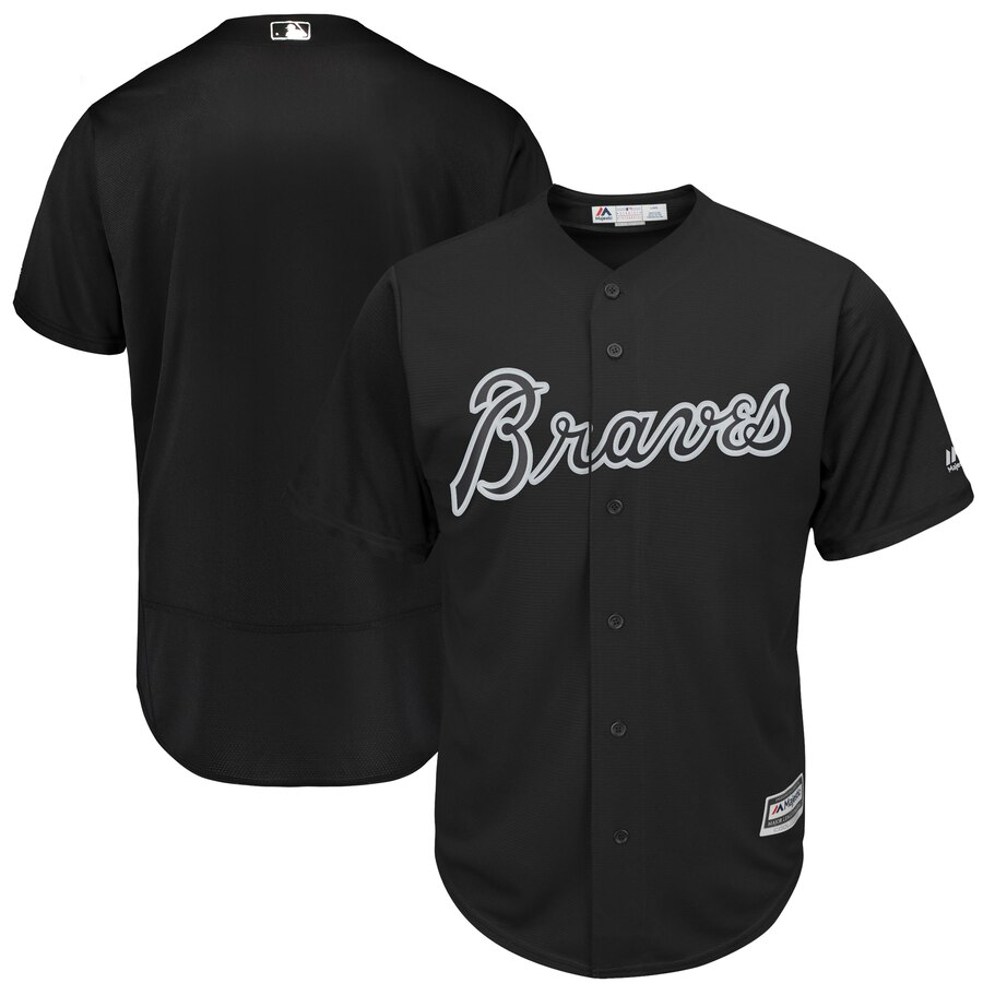 Men's Atlanta Braves Majestic Black 2019 Players' Weekend Team Stitched MLB Jersey