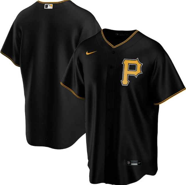 Men's Pittsburgh Pirates Black Cool Base Stitched MLB Jersey