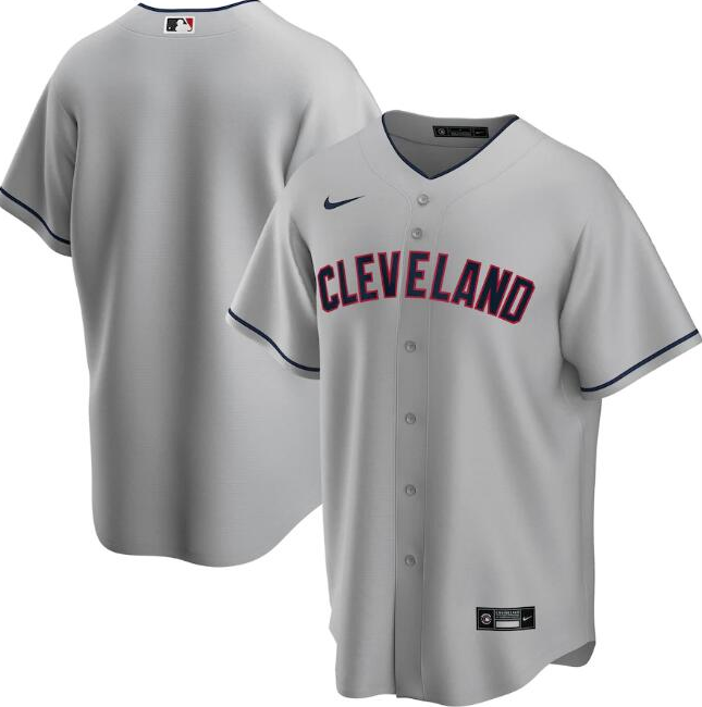 Men's Cleveland Indians Grey Cool Base Stitched MLB Jersey