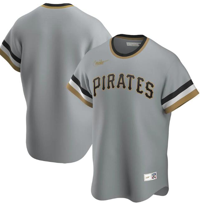 Men's Pittsburgh Pirates Grey Cool Base Stitched MLB Jersey