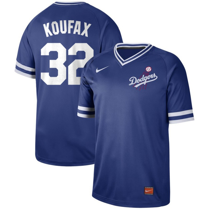 Men's Los Angeles Dodgers #32 Sandy Koufax Blue Cooperstown Collection Legend Stitched MLB Jersey