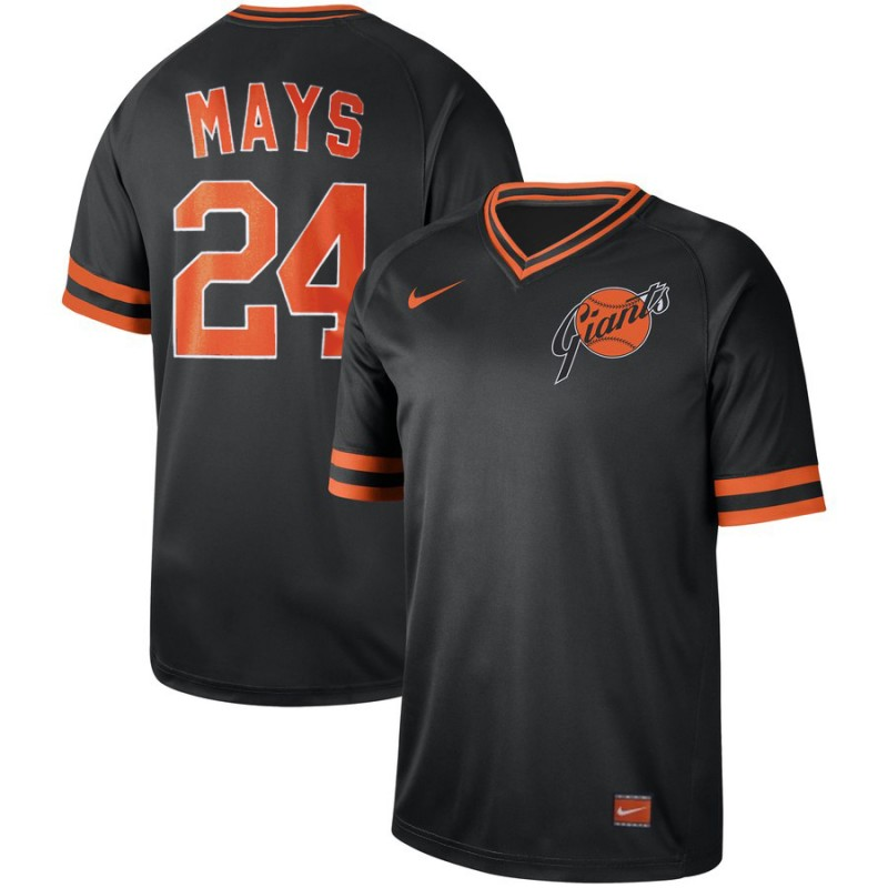 Men's San Francisco Giants #24 Willie Mays Navy Cooperstown Collection Legend Stitched MLB Jersey