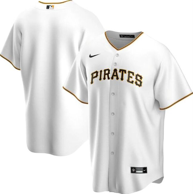 Men's Pittsburgh Pirates Blank White Cool Base Stitched MLB Jersey