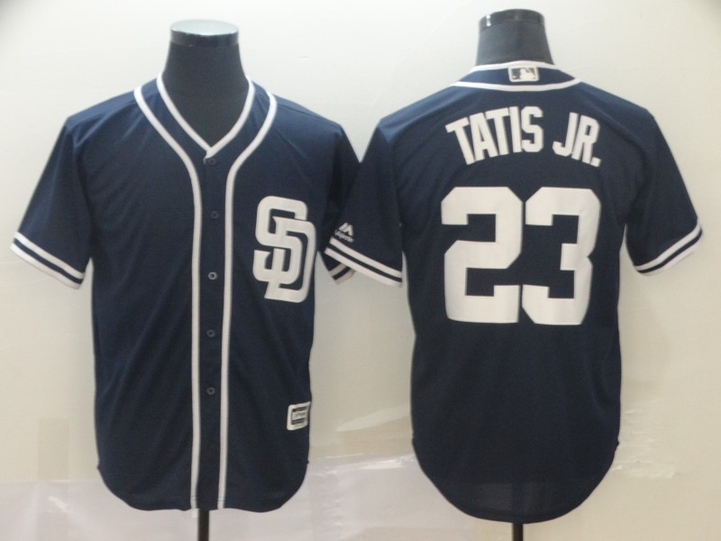 Men's San Diego Padres #23 Fernando Tatis Jr. Navy Cool Base Stitched MLB Jersey