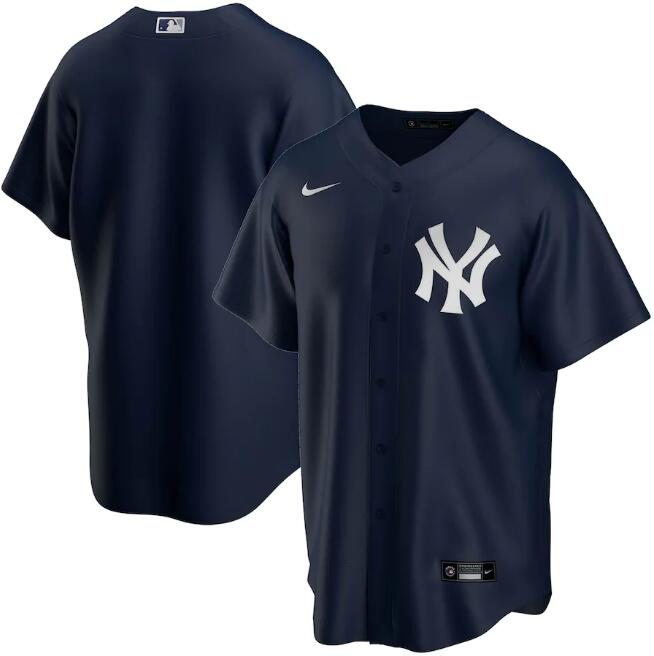 Men's New York Yankees Navy Cool Base Stitched MLB Jersey.