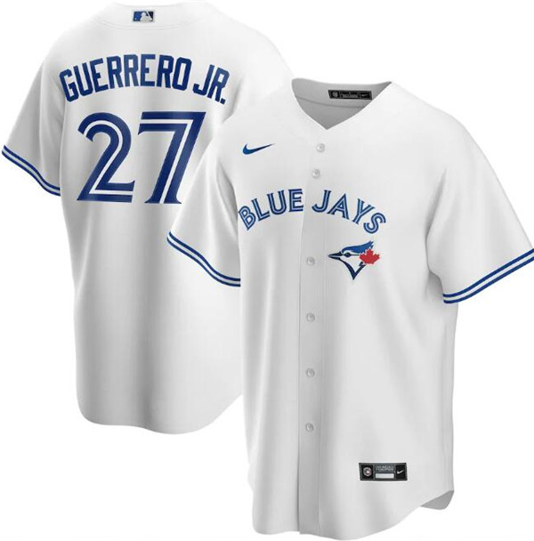 Men's Toronto Blue Jays White #27 Vladimir Guerrero Jr. Majestic Cool Base Stitched MLB Jersey