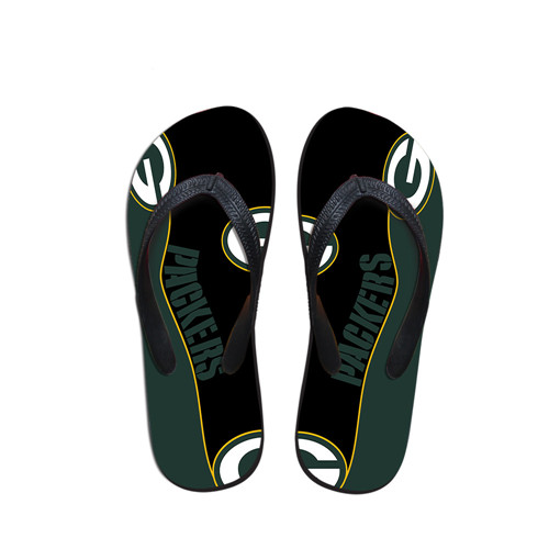 All Size Green Bay Packers Flip Flops 001