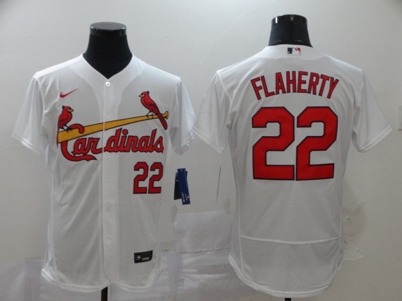 Men's St. Louis Cardinals #22 Jack Flaherty White Flex Base Stitched MLB Jersey