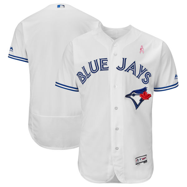 Men's Toronto Blue Jays White 2018 Mother's Day Flexbase Stitched MLB Jersey