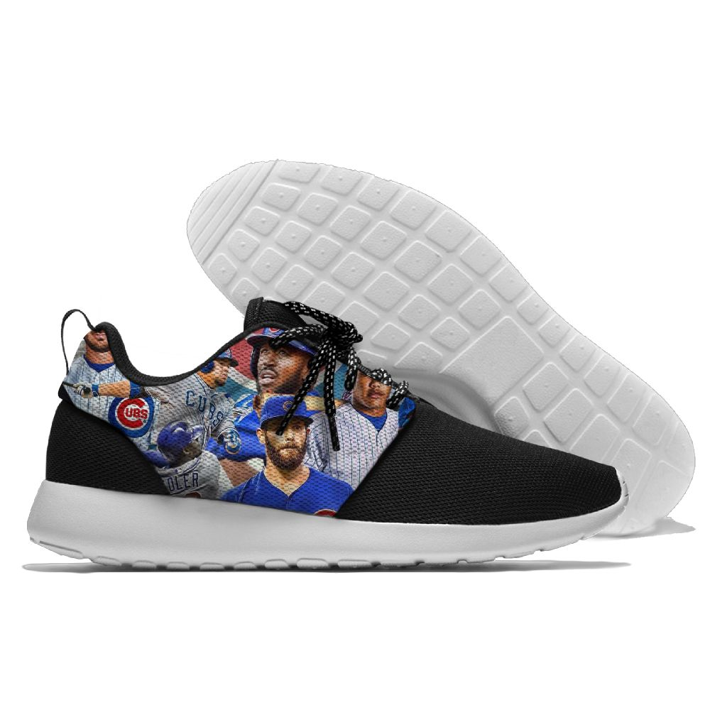Women's Chicago Cubs Roshe Style Lightweight Running MLB Shoes 001