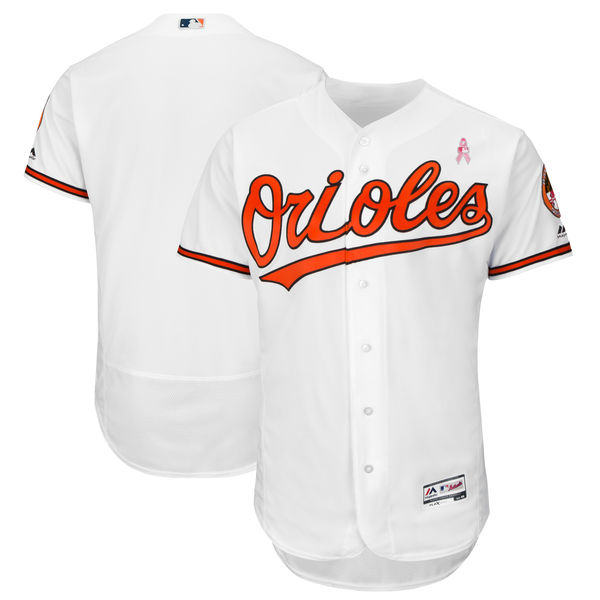 Men's Baltimore Orioles White 2018 Mother's Day Flexbase Stitched MLB Jersey