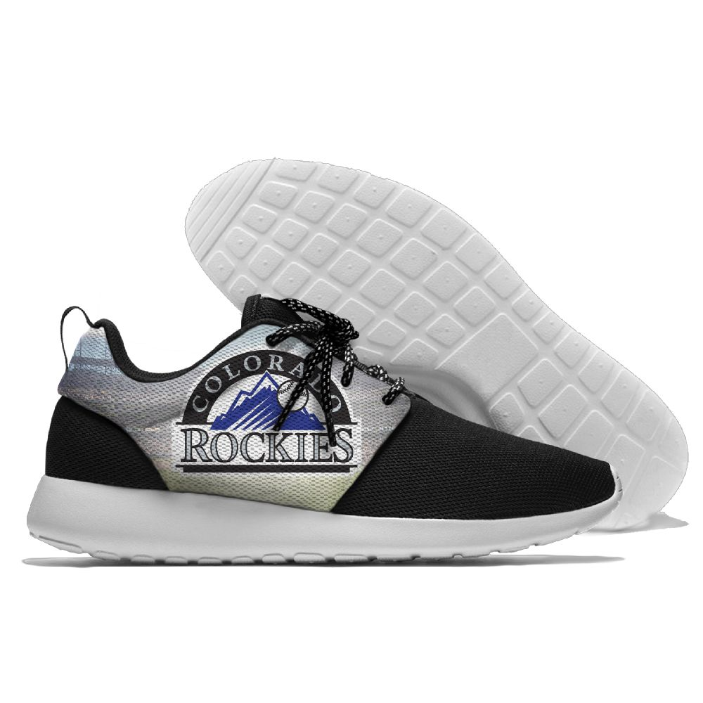 Women's Colorado Rockies Roshe Style Lightweight Running MLB Shoes 001