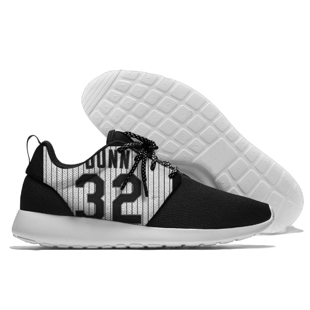 Women's Chicago White Sox Roshe Style Lightweight Running MLB Shoes 001