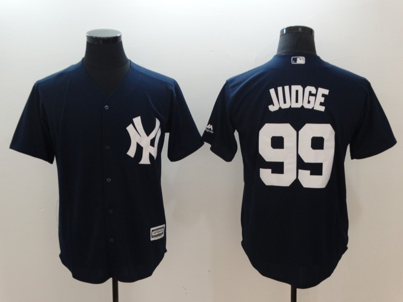Men's New York Yankees #99 Aaron Judge Majestic Navy Fashion Official Cool Base Stitched MLB Jersey